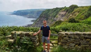 Scott from the Absolute Escapes team on the Cleveland Way