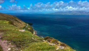 The coastal path near Glenbeigh on the Kerry Way