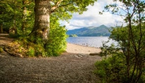 Views of the mountains across Derwentwater