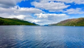 Views over Loch Ness from Dores Beach