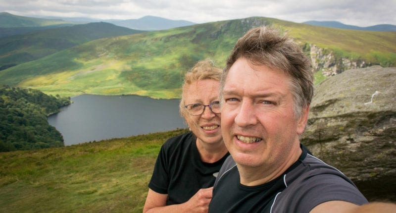 Absolute Escapes clients walking the Wicklow Way