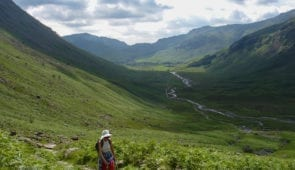 Climbing to Stake Pass on the Cumbria Way