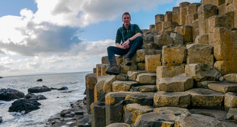 Giant's Causeway - James from Absolute Escapes team on the Causeway Coast Way