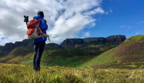 Hiker on the Skye Trail