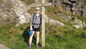 Sine from Absolute Escapes at the start of the Southern Upland Way in Portpatrick