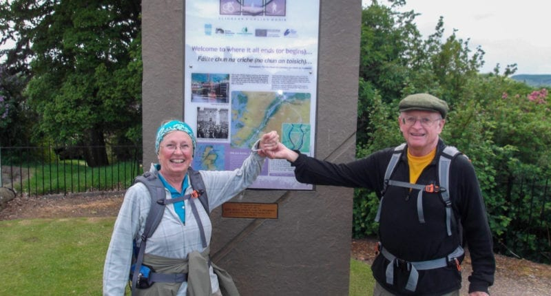 The official end point for the Great Glen Way in Inverness