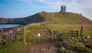 Dunstanburgh Castle on the Northumberland Coast Path