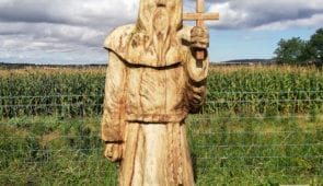 St Cuthbert sculpture