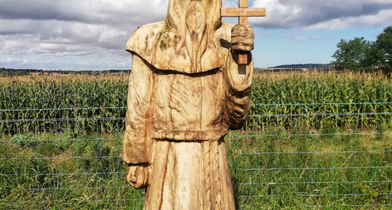 St Cuthbert sculpture
