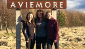 The Absolute Escapes team at the end point in Aviemore