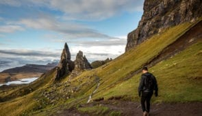 Walking towards the Old Man of Storr