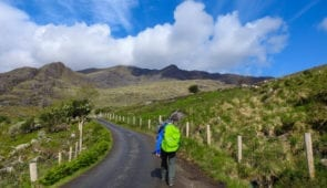 Heading into the hills on the Kerry Way