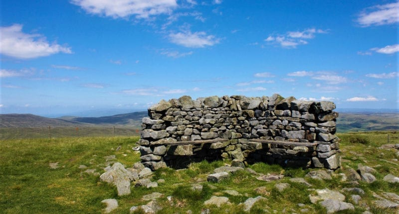 Shelter at the Summit of Great Shunner Fell