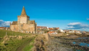 St Monans Parish Church along the Fife Coastal Path