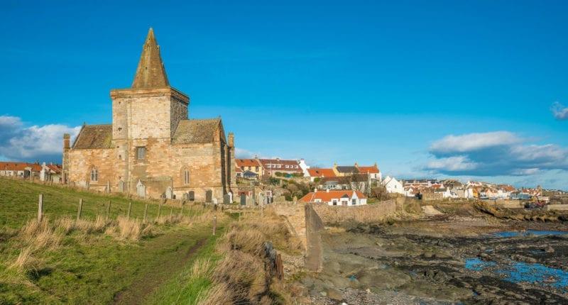 St Monans Parish Church along the Fife Coastal Path