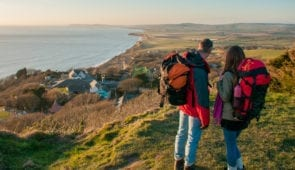 Walkers on Isle of Wight Coastal Path (Credit - Visit Isle of Wight)