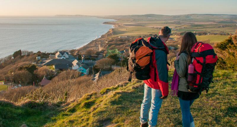 Walkers on Isle of Wight Coastal Path (Credit - Visit Isle of Wight)