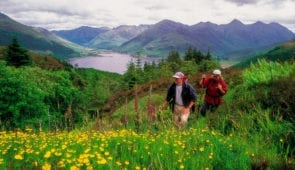 Walkers on the Great Glen Way