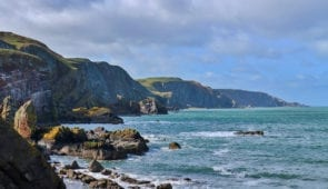 Coastal scenery on the Berwickshire Coastal Path