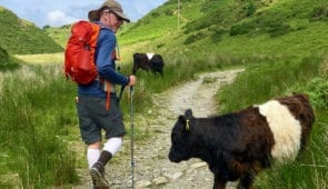 Hiker on the Coast to Coast