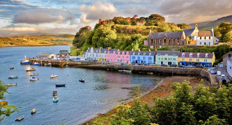 Picturesque Portree harbour