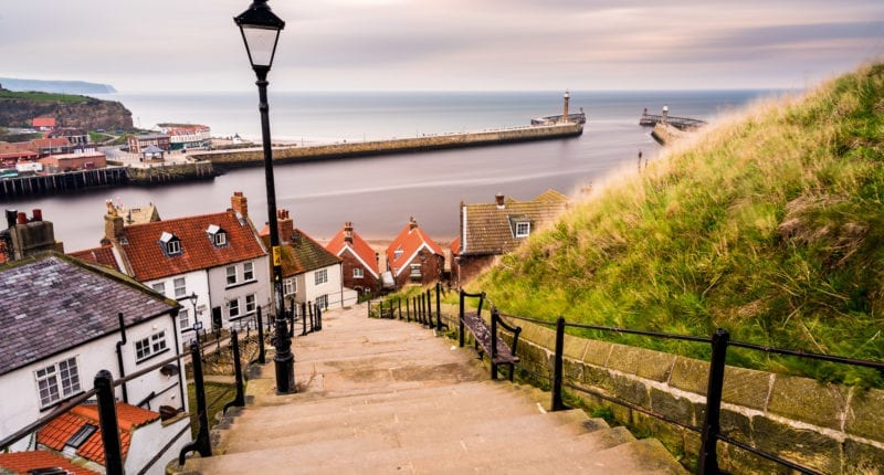Views over Whitby harbour