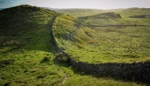Approaching Once Brewed on the Hadrian's Wall Path