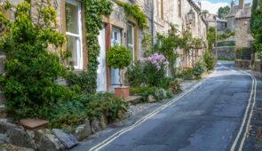 Quaint street in Grassington, Yorkshire