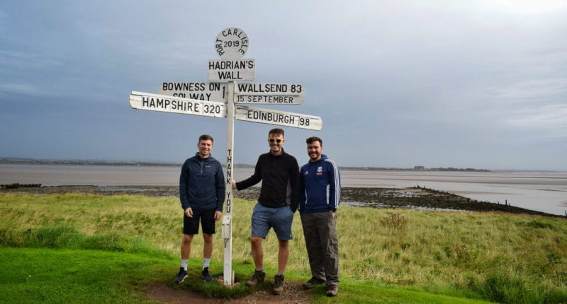 Signpost near Bowness-on-Solway