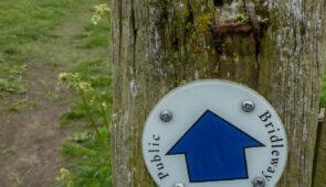 St Oswald's Way Waymarker