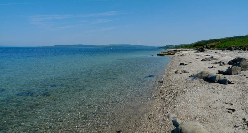 Turquoise waters along the Kintyre Way