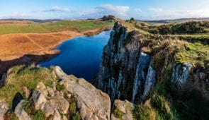 Crag Lough close to Sycamore Gap