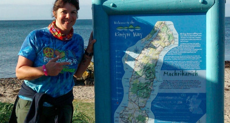 The end of the Kintyre Way in Machrihanish