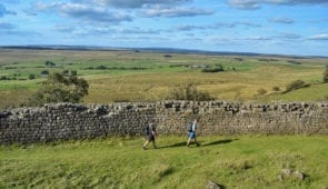 Walking alongside Hadrian's Wall to Once Brewed
