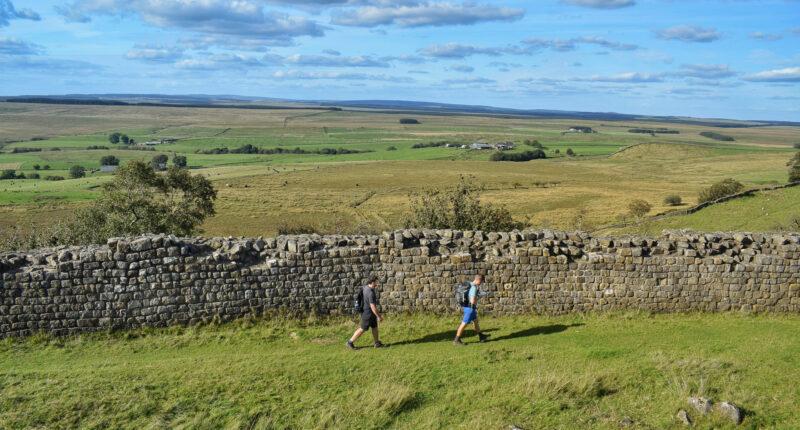 Walking alongside Hadrian's Wall to Once Brewed