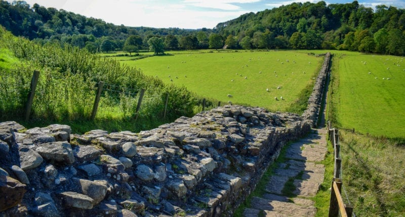 Long stretch of Hadrian's Wall