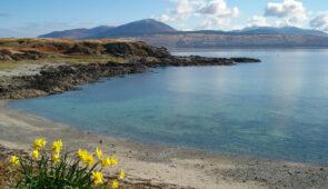 Beautiful bay on the Kintyre Way