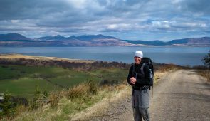 Sheila from Absolute Escapes walking the Kintyre Way