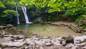 Janet's Foss Waterfall in the Yorkshire Dales