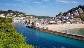 Looe beach and harbour, Cornwall