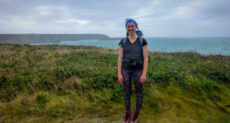 Megan from the Absolute Escapes team walking to Falmouth