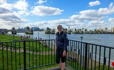 Pippa from the Absolute Escapes Team at the Thames Barrier
