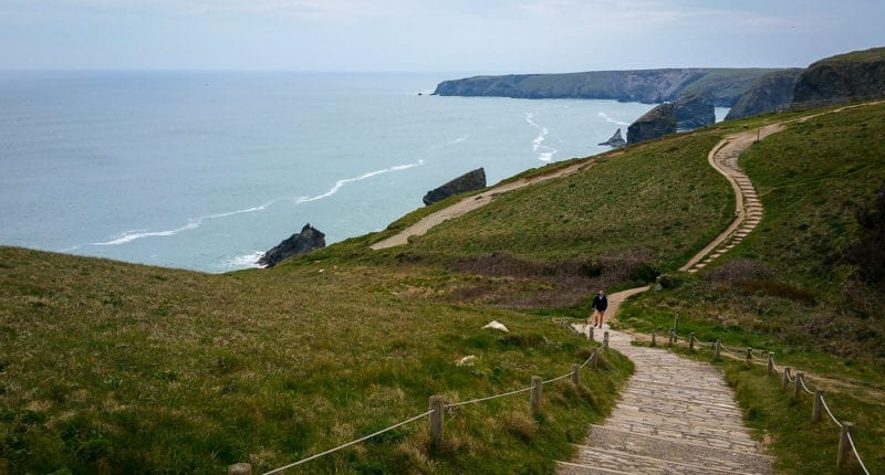 Coastal path between Padstow and Newquay