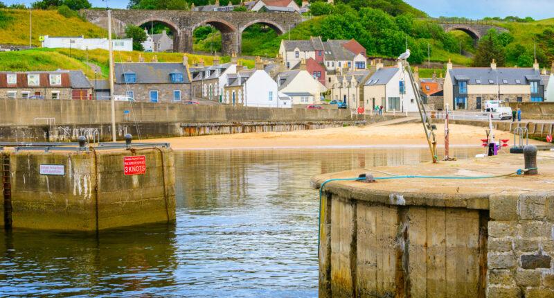 Cullen harbour, Aberdeenshire