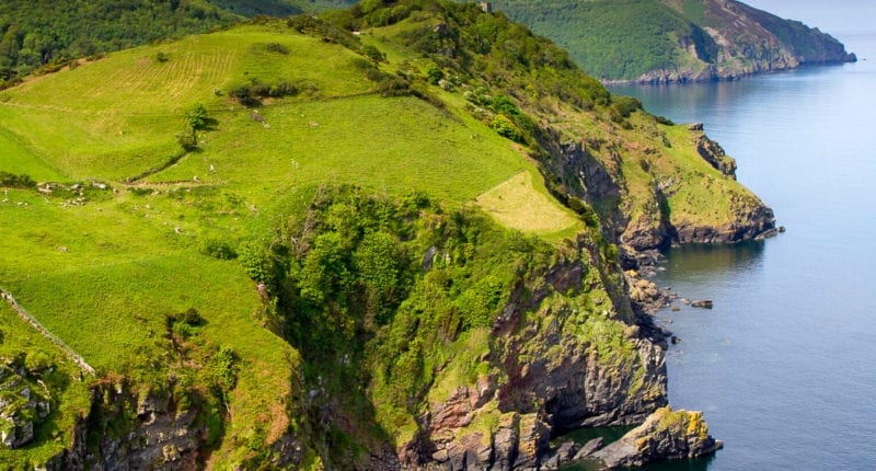 Devon Coastline near Lynton and Lynmouth