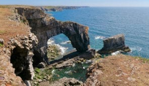 Stack Rocks on the Pembrokeshire Coastal Path