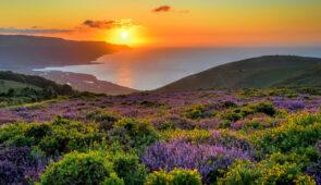 Sunset over Porlock Bay, Exmoor