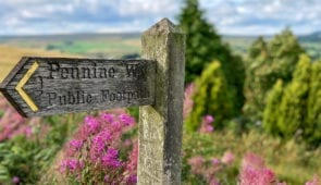 Signpost near Bellingham on the Pennine Way