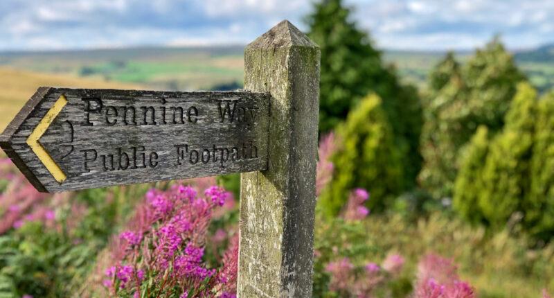 Signpost near Bellingham on the Pennine Way
