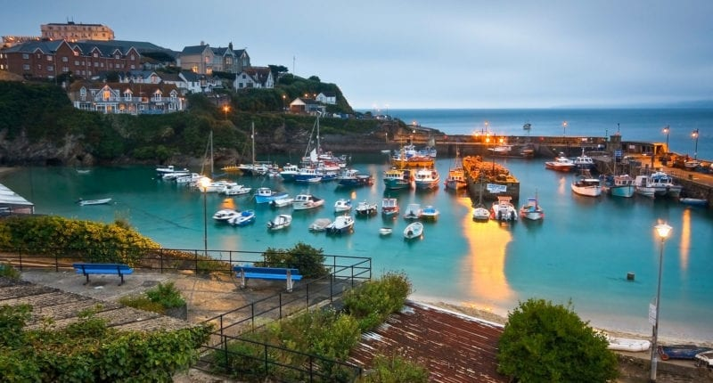 Dusk at Newquay Harbour